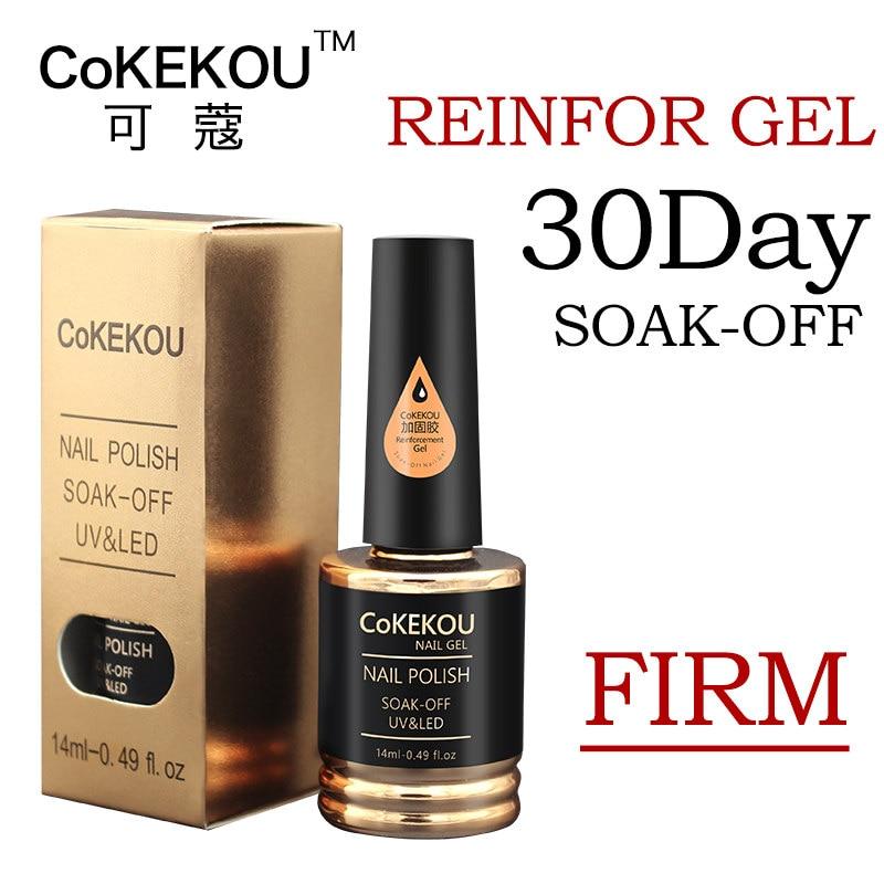 CoKEKOU Ny Nail Gel Polsk Soak Off UV Tempering Top Coat + Base Coat - Negle kunst - Foto 2