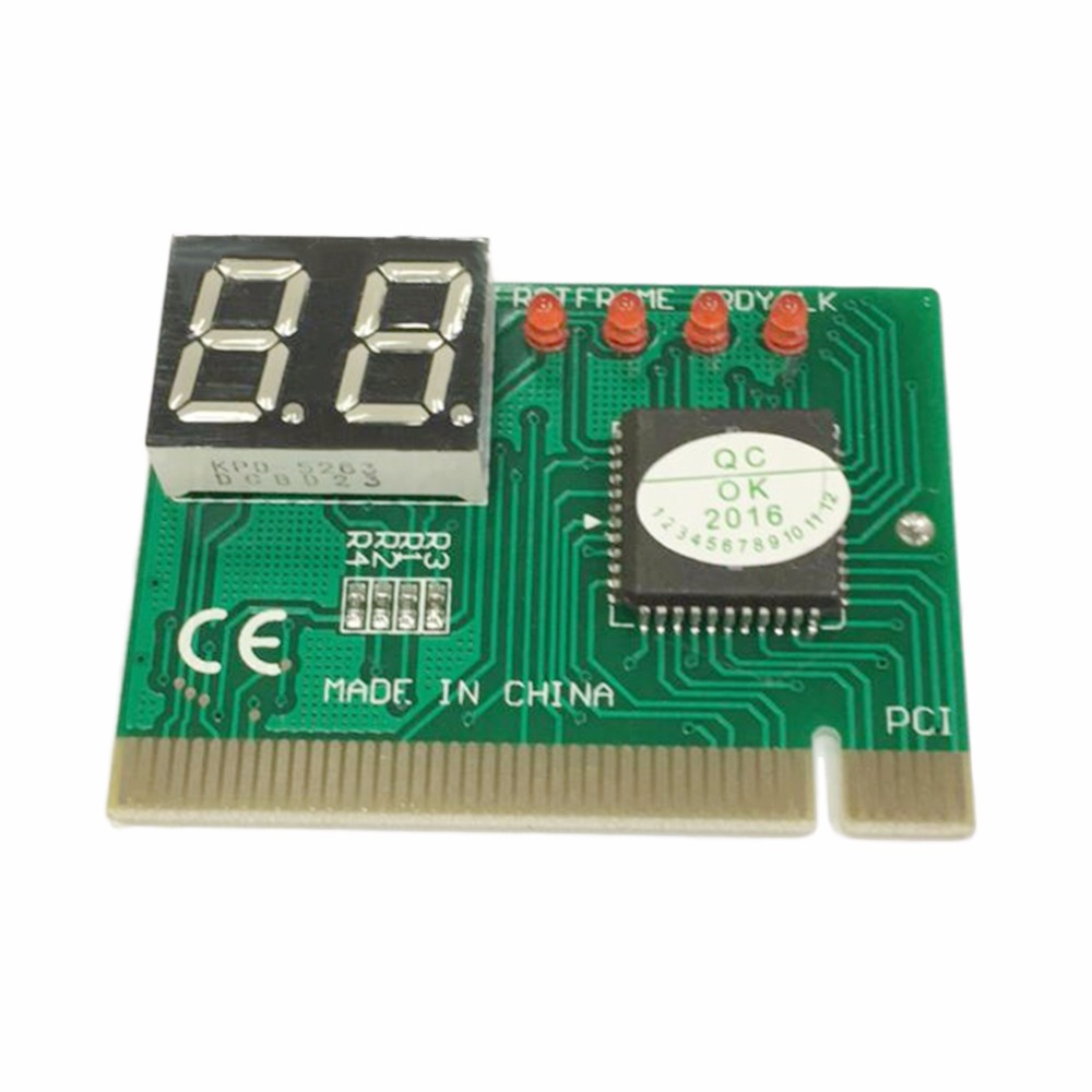 PC PCI Diagnostic Card Motherboard Analyzer Tester Post Analyzer Checker Computer Analysis PCI POST Card Motherboard 2-Digit
