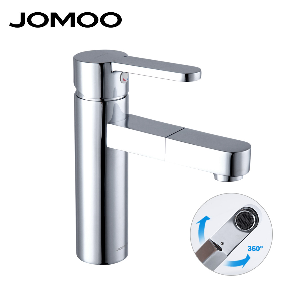 Jomoo Deck Mounted Brass Basin Faucet Water Outlet Hole