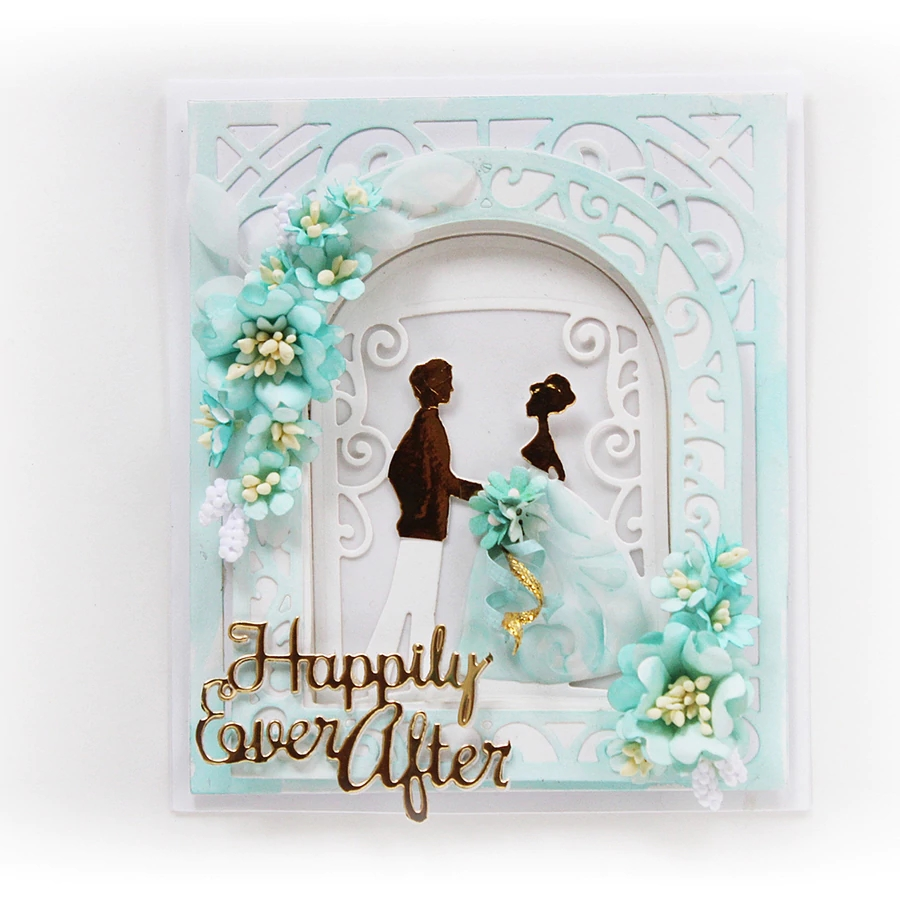 HAPPILY EVER AFTER Metal Cutting Dies for Scrapbooking ETCHED DIES Stencils Embossing DIY Card Making/Photo Album Decoration image