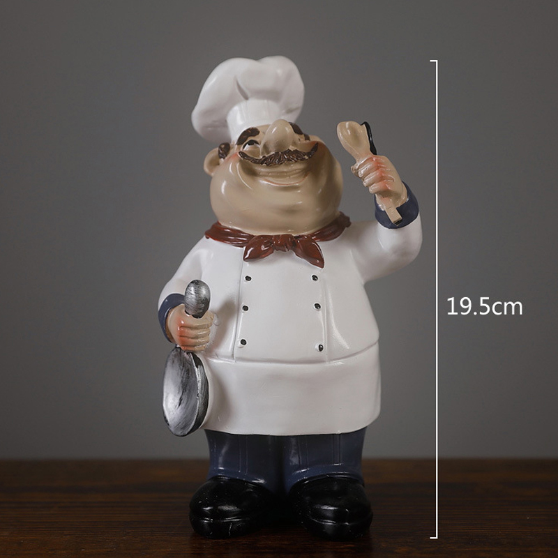 Hot Deal 6c67e Cute Chef Statue Figurine Ornaments Vintage Home