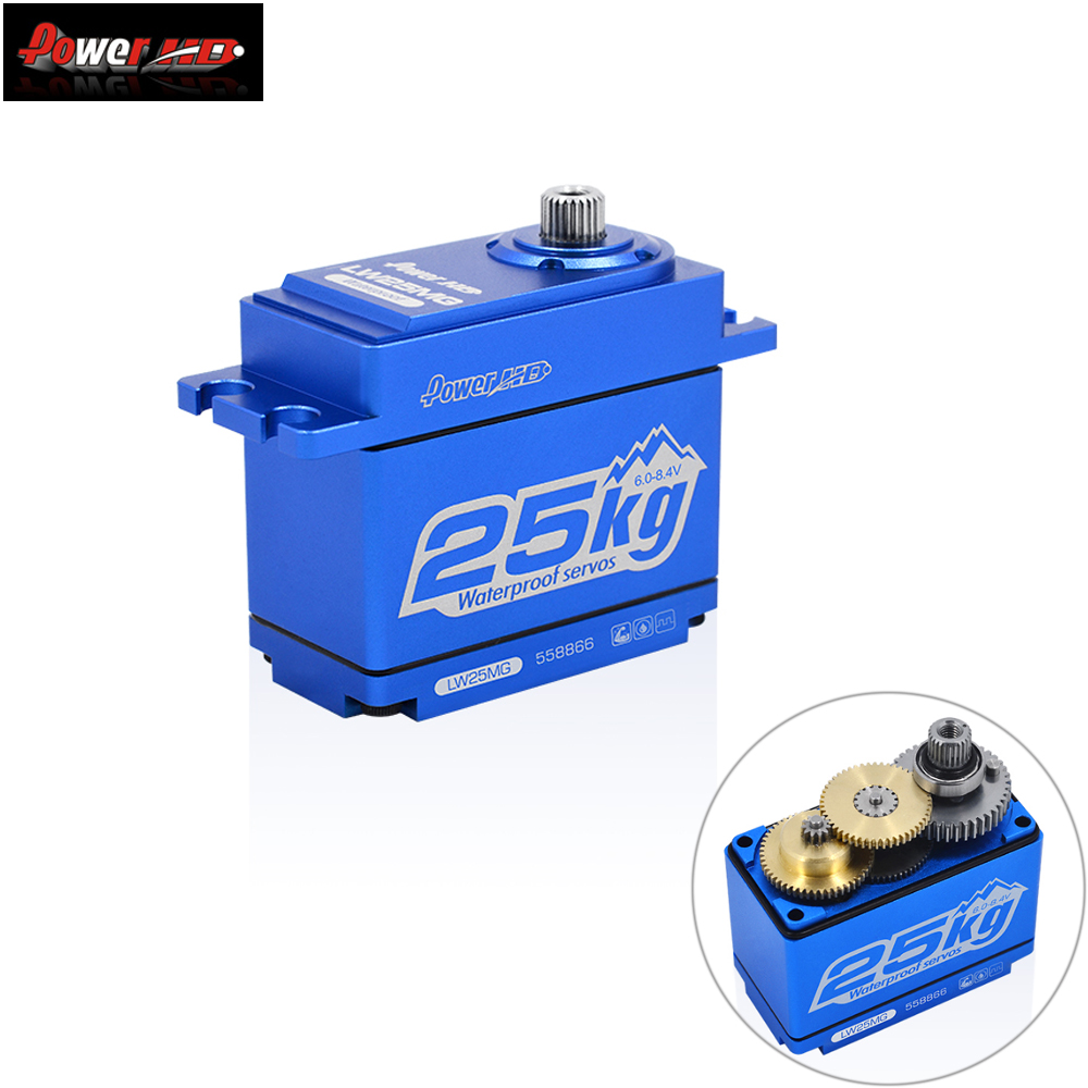 Power HD LW 25MG 25KG 0 14S Waterproof High Torque Metal Gear Standard Digital Servo for