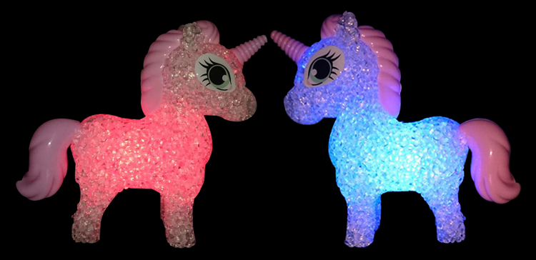 Cartoon unicorn LED Night Light Lighted Toys Colorful Changing table lamp 6