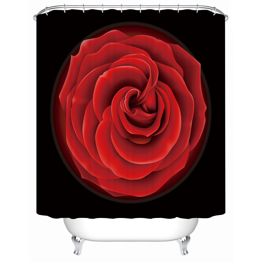 Bathroom shower curtain red - Shower Curtain Red