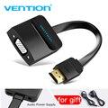 Mukavele HDMI VGA adaptörü Dijital için Analog Video ses dönüştürücü Kablo 1080 p Xbox 360 PS3 PS4 PC Dizüstü TV Kutusu projektör