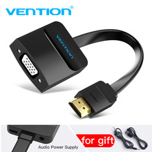 Vention HDMI to VGA adapter Digital to Analog Video Audio Converter Cable 1080p for Xbox 360 PS3 PS4 PC Laptop TV Box Projector(China)