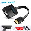 Vention HDMI to VGA adapter Digital to Analog Video Audio Converter Cable 1080p for Xbox 360 PS3 PS4 PC Laptop TV Box Projector