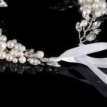 Elegant Bridal Silver Tiara With Simuated Pearls