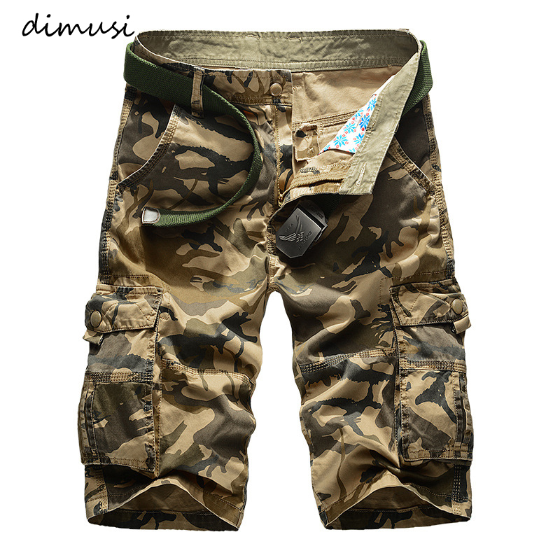 DIMUSI Mens Military Cargo Shorts New Mens Army Camouflage Tactical Shorts Men Cotton Loose Work Casual Shorts Plus Size 42