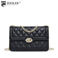 ZOOLER Fashion Genuine leather bags for woman Luxury cross body chains famous brand bolsos mujer shoulder bag E 119
