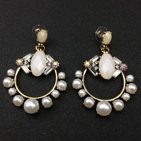 Femmes Bijoux Doré Cristal Transparent Ouvert Musique Note Opale Boucles d/'oreilles pendantes qqq