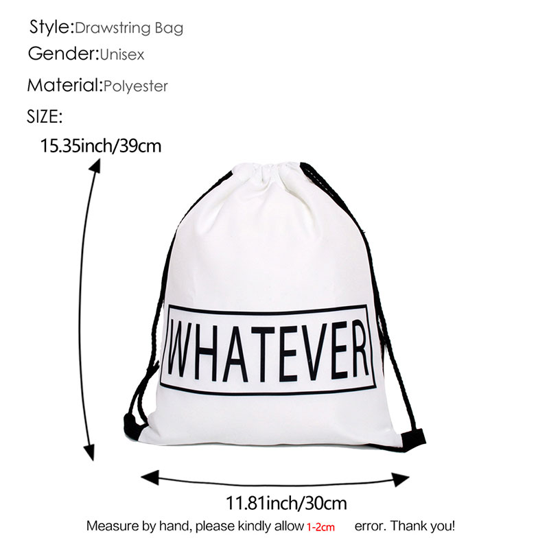 Купить с кэшбэком High Quality polyester Drawstring Bag Beach Women Men Travel Storage Package Teenagers Backpack sac femme with printing logo