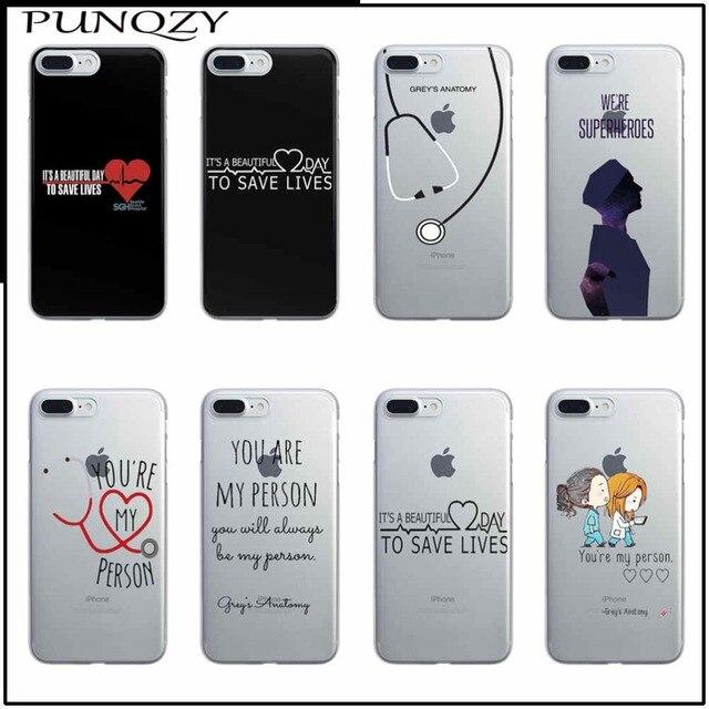 Tu és A Minha Pessoa 5S Fundas Para iPhone 7 Plus 8 SI 6 6 S Plus Greys Anatomy PC plástico Caso Capa Dura New Arrivals Original caso