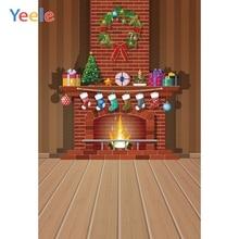 Yeele Photography Backdrops Fireplace Interior Christmas Sock Trees Baby Professional Photographic Backgrounds For Photo Studio
