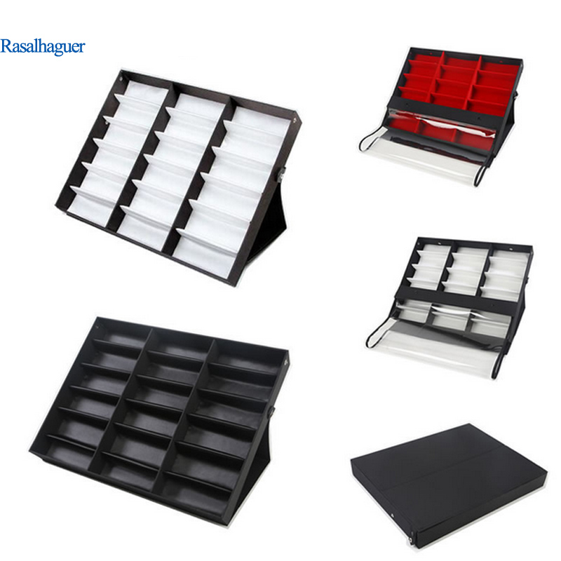 18 Grids Glasses Display Box Glasses Storage Box Sunglasses Display Stand Dust proof Storage Glasses Box