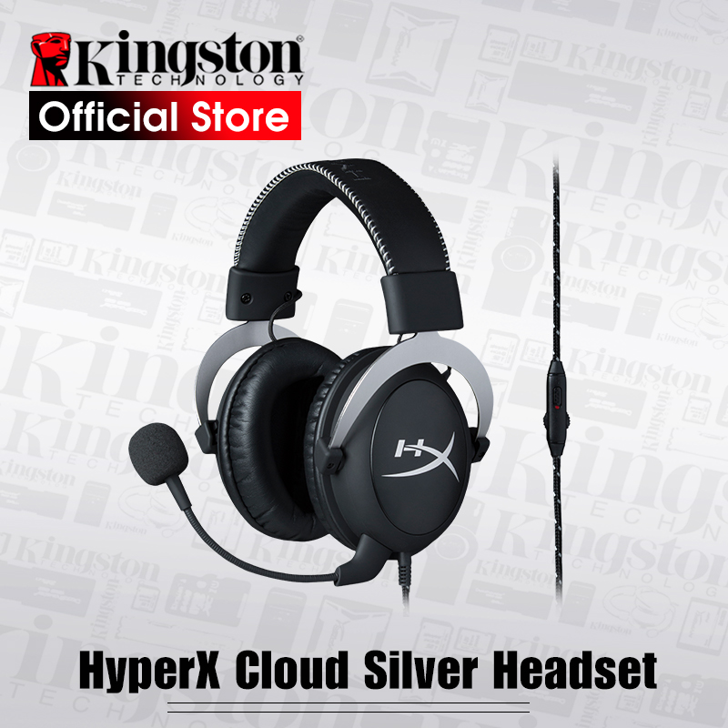 купить Kingston Gaming Headset HyperX Cloud Silver Gaming Headset Headphones With a microphone по цене 5439.12 рублей