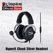 Kingston oyun kulaklığı HyperX Bulut Gümüş oyun kulaklığı Kulaklık bir mikrofon Ile