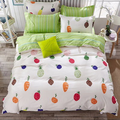 2017 Fashion Vegetable And Fruit Queen/full/twin Size Bed Linen Set Bedding  Set