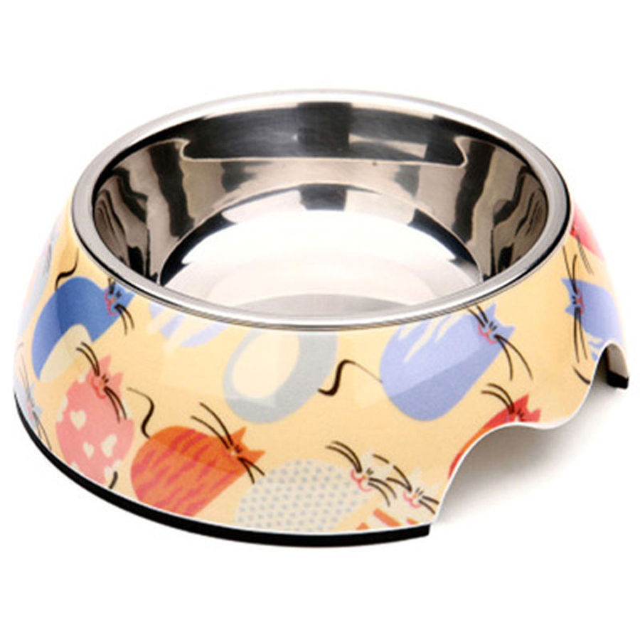puppy ceramic solid dog bowl stainless steel pet bowl cat water comedero perro chihuahua dog gamelle - Ceramic Dog Bowls