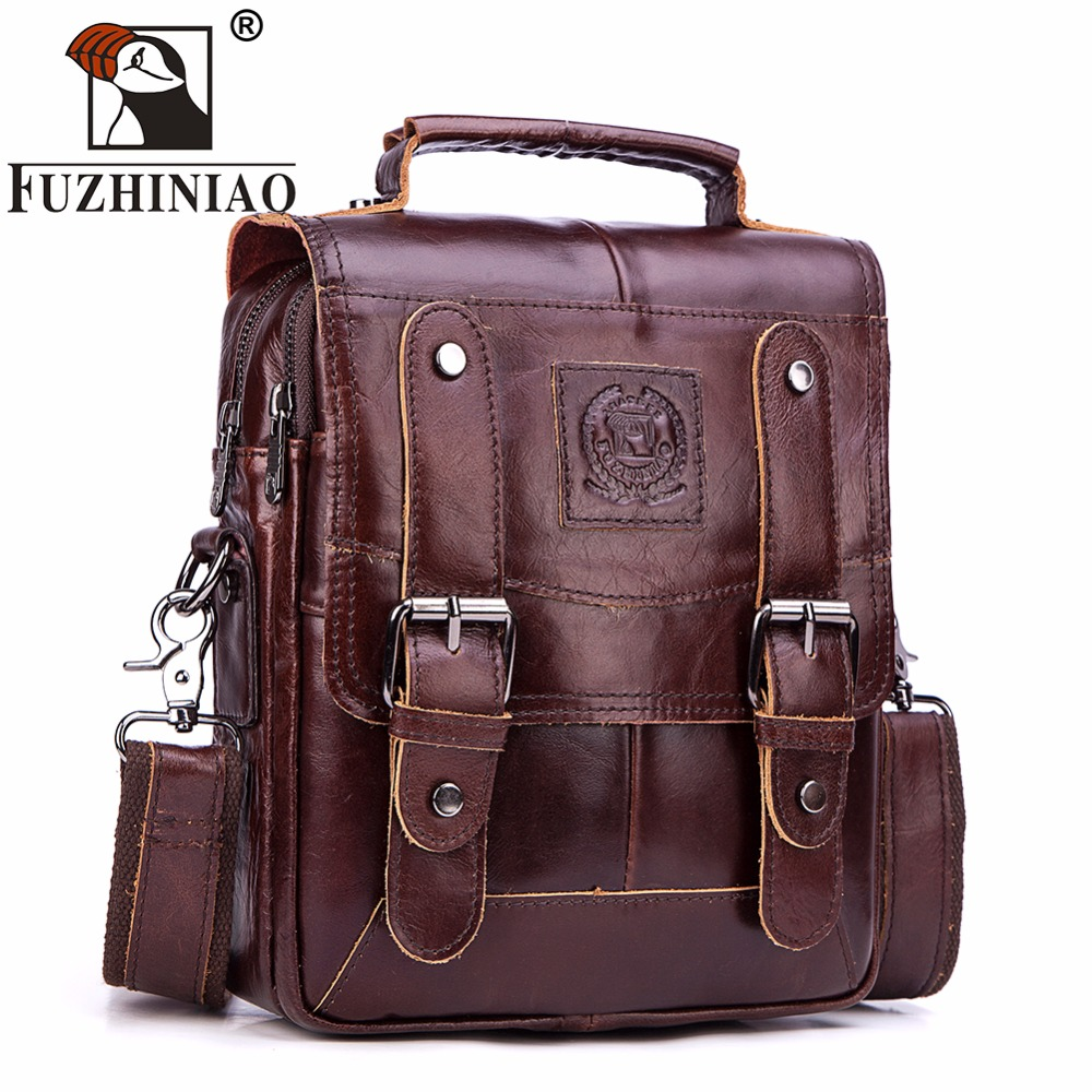 FUZHINIAO Famous Brand Genuine Leather Messenger Bag Men s Shoulder Bag Handbags Male Clutch Crossbody Tote