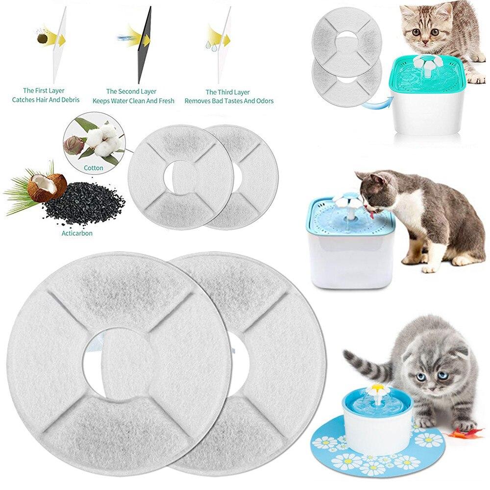 1/2/4/6/8/piezas De Filtro De Carbono Activado Automática Para Perro Gato Gatito De Agua Potable Filtro De Plato De Bebida Fuente Para Mascotas