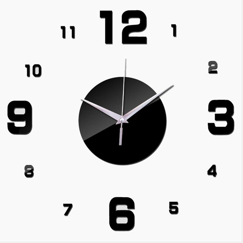 ③2017 modern top relojes de moda reloj de pared digital 3d etiqueta ...