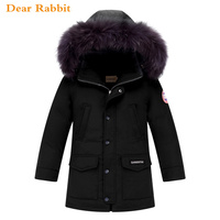 2018 winter down jacket for boy clothes children's clothing for snow wear kids outerwear coat hooded warm parka real Raccoon fur