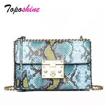 Snake Pattern Ladies Small Square Bag New Fashion High Quality Casual Wild Shoulder Messenger