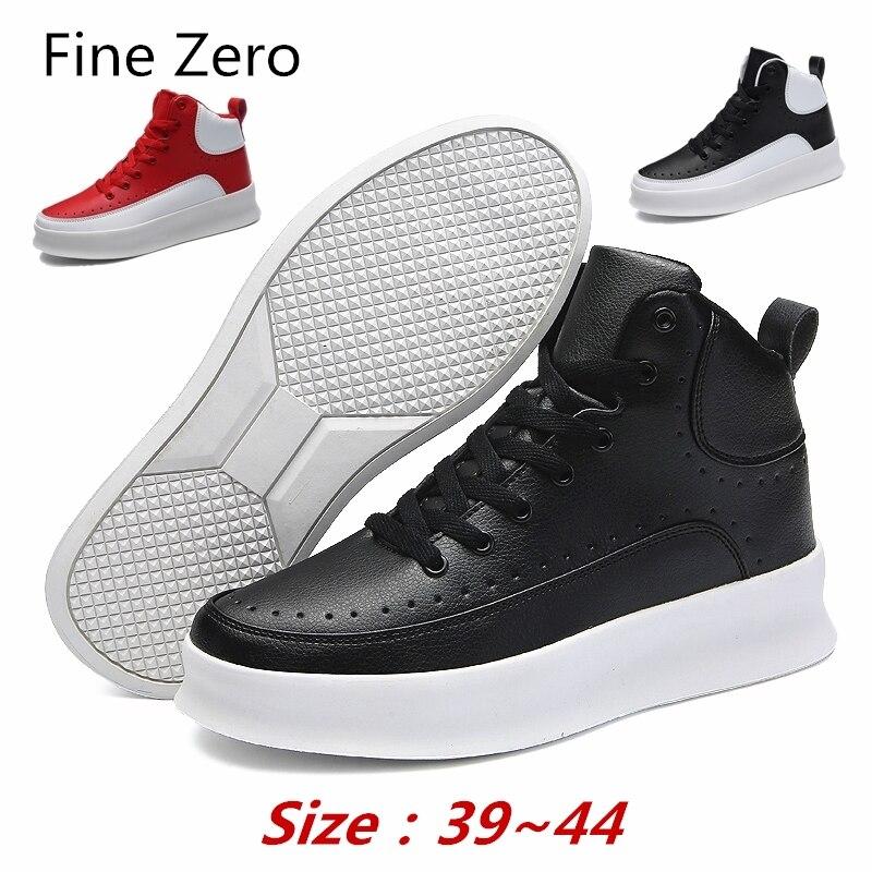 Jeunesse Occasionnel blanc Mâle Nouveau Loisirs Sneakers Printemps Hiver Dentelle De Classique Mode Zéro En Jusqu'à Cuir rouge Blanc Fine Noir Hommes Marque Chaussures TUwaqxB