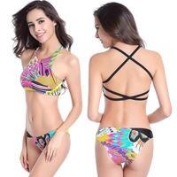 Swimmart fanshionable sexy donne bikini tradizionale delle donne sexy push up bikini donna costume da bagno spiaggia inferiore del vestito di nuotata dm017
