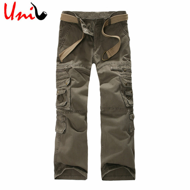 Uni-Splendor 2017 New Arrival Cargo Pants Men Military Army Pants Multi Pocket Mens Casual Full Trousers Work Pant 28-38 YN832