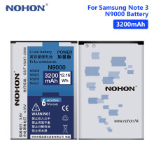 NOHON N9000 Lithium Rechargeable Phone Battery For Samsung Galaxy Note 3 III N9000 N9005 N9006 B800BE B800BC 3200mAh Batteries newtop toughened glass screen protector for samsung galaxy note 3 n9000 n9005 transparent