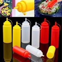 1 pc 230ml 8 oz espremer garrafa condimento dispensador ketchup molho de mostarda vinagre novo|dispenser ketchup|squeeze dispensing bottle|vinegar bottle -