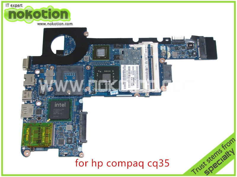 NOKOTION laptop motherboard For hp Compaq CQ35 DV3 PM45 graphics DDR2 Mainboard 579151-001 538765-002 warranty 60 days for hp cq35 cq36 dv3 2100 2200 dv3z dv3z 1100 laptop fan