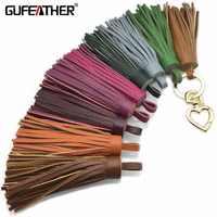 GUFEATHER L80/10 CENTIMETRI In Vera Pelle nappa/accessori gioielli/fatto a mano/monili che fanno/gioielli FAI DA TE /decorazioni/nappa