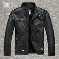 Retro black genuine leather jacket coat men sheepskin motorcycle jackets chaqueta moto hombre veste cuir homme cappotto LT946
