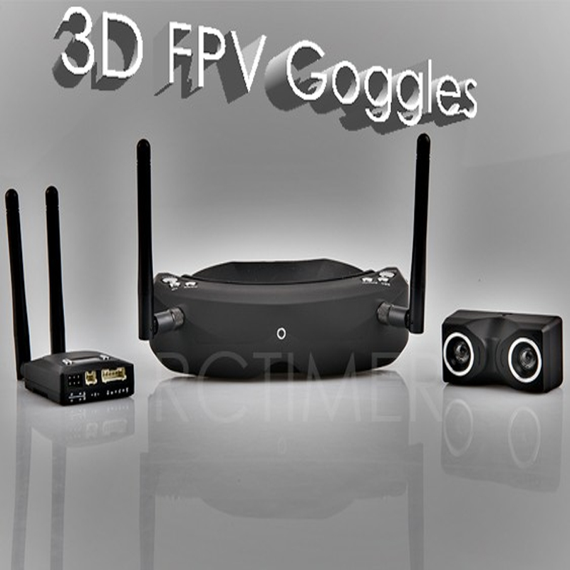 SKYZONE 5.8G 32CH 3D DVR FPV Goggles V2 Camera Transmitter 2dBi Antenna WFLY JR Futaba Data Cable Adjustable Combo Set SKY02