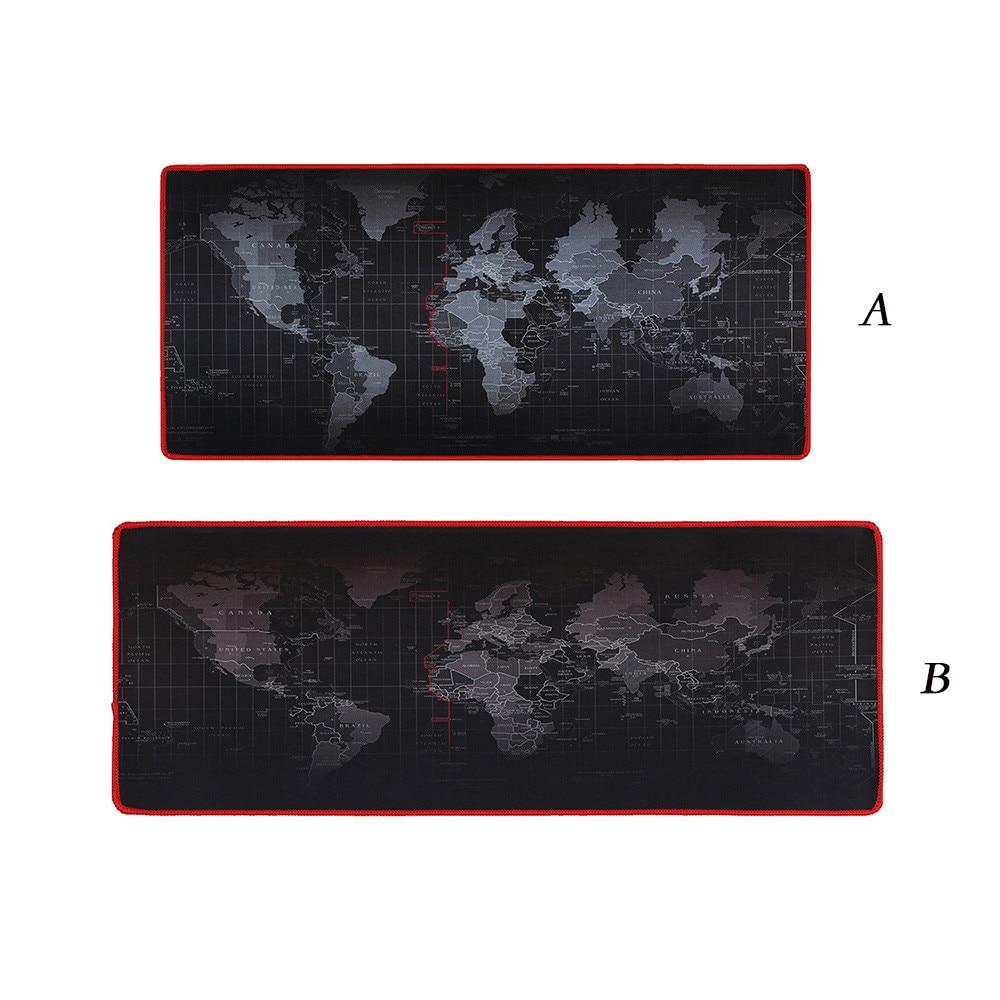 Heißer Verkauf Extra Große Maus Pad Alten Welt Karte Gaming Mauspad Anti-slip Gummi Gaming Maus Matte mit Locking rand 61400A