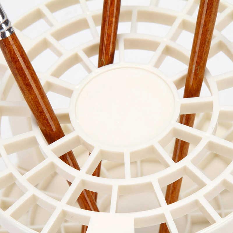 Конда живопись кисточки держатель ручки круглый пластик подставки для карандашей Организатор настольная подставка для школьные принадлежности с коробкой белый