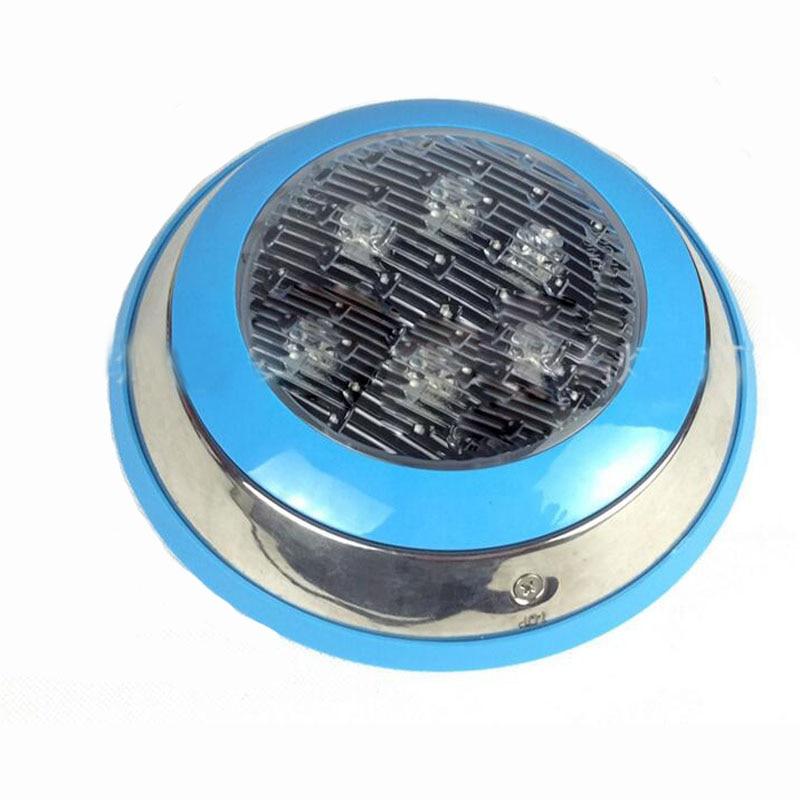 10cs/lot led round swimming spot lamp focos piscina led RGB 6W 12V LED Underwater Landscape Lamp Swimming Pool Wall Lamp