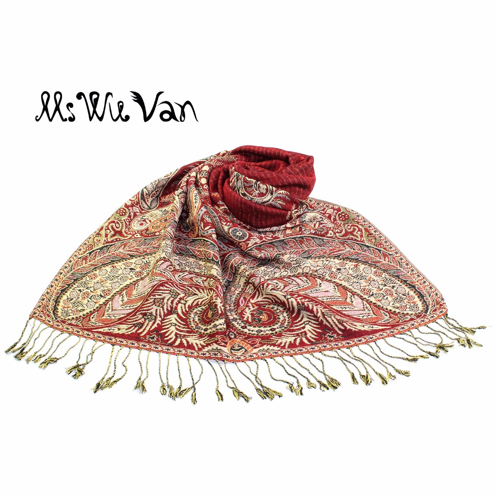 Paisley Tippet From India Turquoise Scarf Winter Scarves Cotton Pashmina For Women Echarpe Oversize Autumn Shawls Wraps 190*70cm