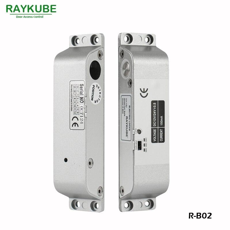RAYKUBE Electric Bolt Lock For Door Access Control System Electronic Door Lock R-B02