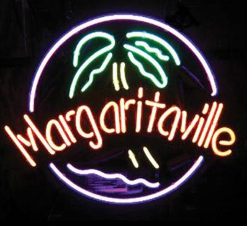 Barre de bière de signe de néon en verre de Margaritaville faite sur commande