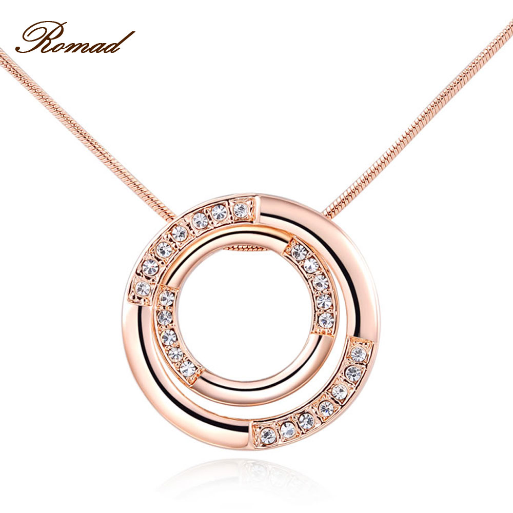 2017 Romad Brand Classic Necklace For Women Double Circle