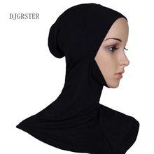 Underscarf islâmico chapéus crossover estilo clássico hijab headwear capa completa macio stretchble muçulmano esporte interior hijab tampas