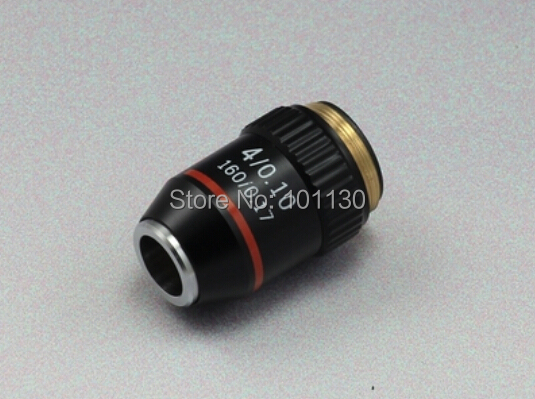 4X Achromatic Objective Lens for Biological Microscope with Conjugate Distance 195 mm