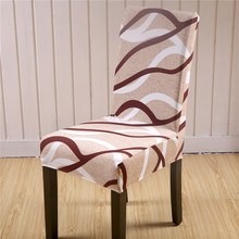 sunnyrain 46 pieces polyester chair covers spandex wedding chair covers dining chair cover housse