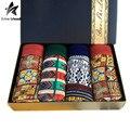 2017 4 pçs/lote Calções de Impressão Dos Homens Roupa Interior Dos Homens Boxers Modal Macio Respirável Cueca Boxer Homme Roupas de Marca Gift Box LW257