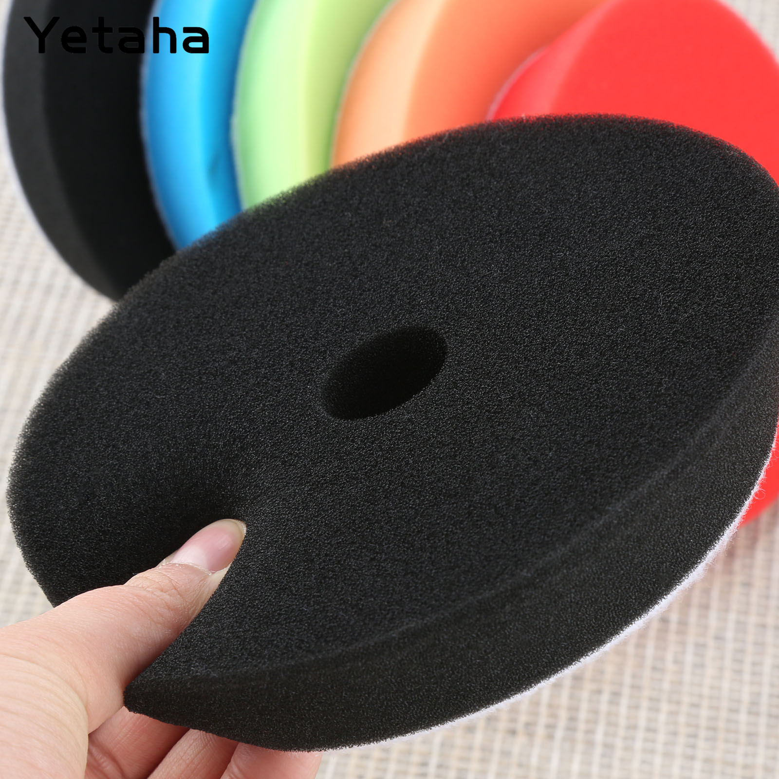 Image 2 - Yetaha 5Pcs 6inch 150mm Car Polishing Buffing Sponge Pads Set Car Wash For Car Polisher Cleaning Detailing Polishing Tool-in Sponges, Cloths & Brushes from Automobiles & Motorcycles