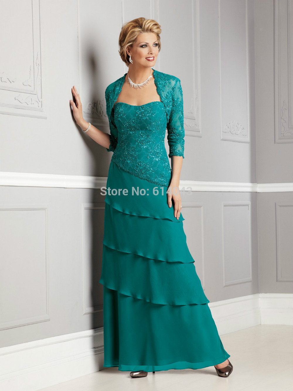 Contemporary Mother Of The Groom Dress With Jacket Picture ...